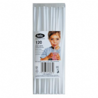 Clear and White Twisted Straws (Pack of 120)